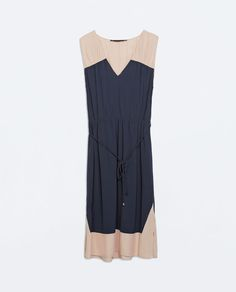 Image 5 of COLOR BLOCK DRESS WITH BELT from Zara