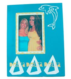Tri Delt  large frame made using supplies and custom stencils