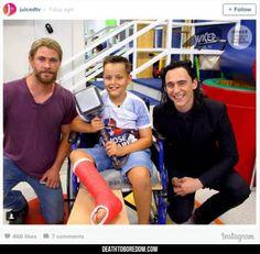 Loki And Thor Visit A Kid's Hospital