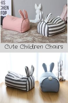 Kinderstühle Hocker Sitzsäcke - - - autour du tissu déco enfant paques bébé déco mariage diy et crochet Baby Sewing Projects, Sewing Projects For Beginners, Sewing For Kids, Diy For Kids, Free Sewing, Sewing Tutorials, Sewing Hacks, Sewing Toys, Sewing Crafts