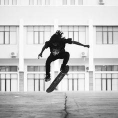 Nollie.  ig : @knownasovan #skateboarding #photography #skateboarder #blackandwhite #minimalist #minimalism #architecture #instagram #nolie #art #visual #vignette