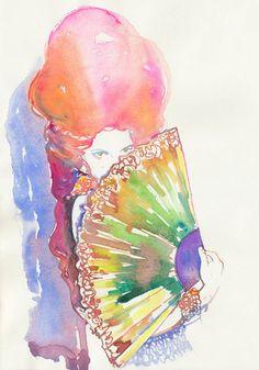 Belle 3 | Cate Parr #watercolor #fashion #illustration