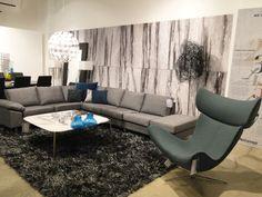 BoConcept Imola chair, marble coffee table & Indivi sofa