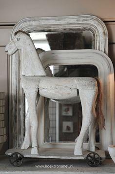 houten paard Franse spiegels