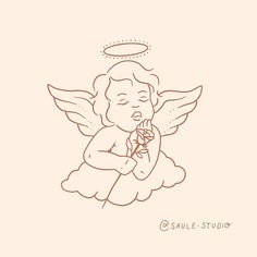 Sweet cherub custom design swipe across Baby Angel Tattoo, Cupid Tattoo, Small Angel Tattoo, Cupid Drawing, Angel Drawing, Tattoo Sketches, Tattoo Drawings, Art Sketches, Tattoos Skull