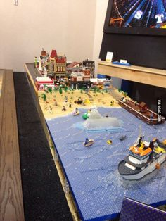 A little Lego beach town.