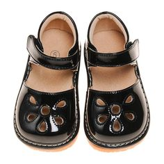 Girl's Leather Toddler Black Petal Patent Style Squeaky Shoes Sizes 2 to 7 Squeaky Shoes, Girls Shoes, Pairs, Flats, Southern, Leather, June, Accessories, Ebay