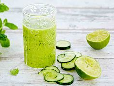 Smoothie Drinks, Smoothies, Yummy Food, Tasty, Superfoods, Zucchini, Vegetarian Recipes, Food And Drink, Fruit