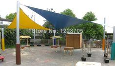 Customized Triangular Waterproof 3*3*3m sun shade sails for garden playground patio Roof Top Canvas flexible garden shade US $59.99