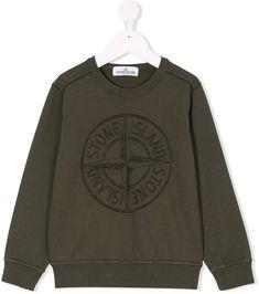 a916832c07d04 Stone Island Junior logo embroidery sweatshirt  style day urban