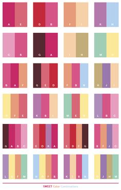 Color Schemes Sweet Combinations Palettes For Print