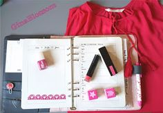 the blossom's place: Filofaxing Kikki K Dekoration KW 22 - Beere Berry Pink H&M Shopping