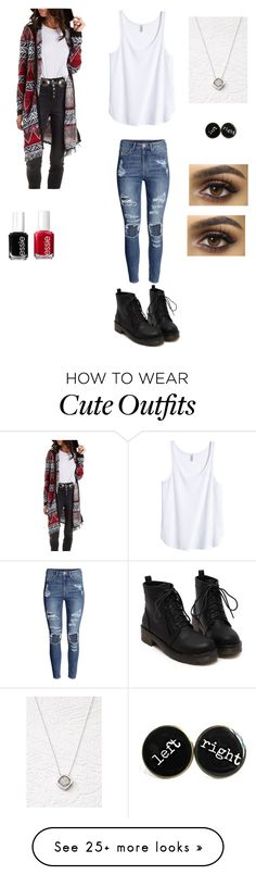"""Cute fall outfit"" by princessrena on Polyvore featuring moda, H&M, Charlotte Russe, Forever 21 y Essie"