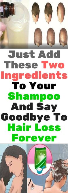 Just Add These Two Ingredients To Your Shampoo And Say Goodbye To Hair Loss Forever