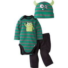 Gerber Newborn Baby Boy Bodysuit, Pant, and Cap Outfit Set, 3-Piece, Size: 6 - 9 Months