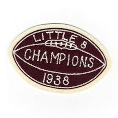 Vintage 1938 Football Champions Patch // Little 8 //Michigan // Sports Collectible //. $16.50, via Etsy.