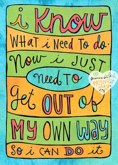 Out of My Own Way jumbo doodle magnet by artsyville on Etsy, $6.00  <3<3<3 @