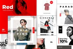 This product is a part of Royal Bundle : --- Hello this is RED, Next generation social media design for urban fashion industries. this template is ready to post Lala Instagram, Instagram Story, Instagram Design, Instagram Feed, Social Media Template, Social Media Design, Instagram Giveaway, Site Website, Web Banner