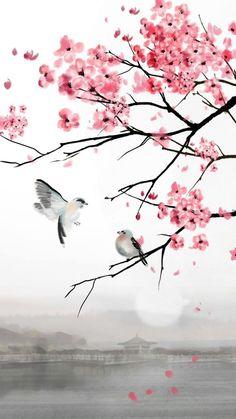 Japanese cherry blossom huge original by emilynewmanart – Artofit Flower Wallpaper, Wallpaper Backgrounds, Cherry Blossom Painting, Sakura Painting, Sakura Cherry Blossom, Art Japonais, Beautiful Nature Wallpaper, Japan Art, Pretty Wallpapers