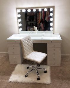 SlayStation® Pro Tabletop + Vanity Mirror + 5 Drawer Units Bundle (Pre-order Bright White Now. Expected ship date: June - Impressions Vanity Co. Cute Bedroom Decor, Bedroom Decor For Teen Girls, Stylish Bedroom, Room Ideas Bedroom, Beauty Room Decor, Makeup Room Decor, Makeup Rooms, Vanity Room, Vanity Decor