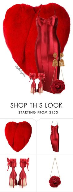 """""""Look 3"""" by stylesbyems ❤ liked on Polyvore featuring Yves Saint Laurent, Gianvito Rossi, Judith Leiber and Amrapali"""