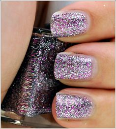 glitter nail polish---Love this