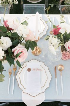 Wedding Table Place Settings, Table Settings, Groom And Groomsmen Attire, Rooftop Wedding, Classic Garden, Wedding Shoot, Wedding Ideas, Garden Wedding Inspiration, Rooftop Garden