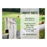 Country Themed Party Invitations