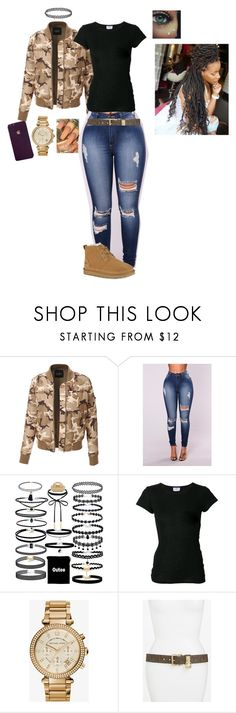 """She poppin"" by laylakristion on Polyvore featuring LE3NO, The White Briefs, Michael Kors and UGG"