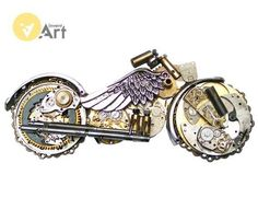 Steampunk Motocycle created by Andrzej Łukasiak Invent-Art