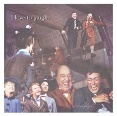 I love to laugh-Mary Poppins Disney Dream, Disney Love, Disney Magic, Disney Pixar, Mary Poppins Movie, Mary Poppins 1964, Disney Live Action Films, Live Action Movie, Ed Wynn