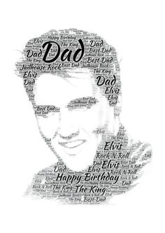 Elvis Personalised Word Art Print Christmas Birthday Fathers Day Gift Present #SandraCraftyCardz #AllOccasions