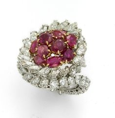Diamond and Ruby ring by Cartier by smita