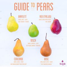 Looking for the perfect pear? From baking to poaching to salad toppers: our guides got you covered! Link in bio by lovesuja Types Of Fruit, Fruit And Veg, Cooking Tips, Cooking Recipes, Healthy Recipes, Juice Recipes, Cooking Food, Pear Varieties, Pear Salad