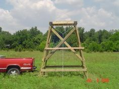 DIY RAISED DEER PLATFORM | How to build hunting tree stands - by Rex Coker - Helium
