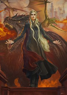 """Mother of dragons, Daenerys thought. A queen I am, but my throne is made of burned bones, and it rests on quicksand. Game Of Thrones Artwork, Game Of Thrones Fans, Arya Stark, The Mother Of Dragons, Jon Snow, Got Dragons, Fanart, My Champion, Iron Throne"
