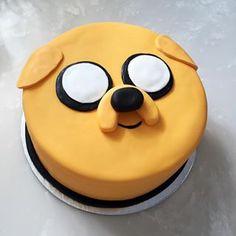 Jake y su hermosa nariz. | 24 Deliciosas tortas para festejar tu cumpleaños con Adventure Time