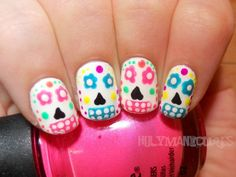 Holy Manicures: Sugar Skull Nails.