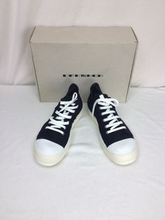 New DRKSHOW Black Ramones Sneakers Low Top Trainers Size 44 Euro 11 US 10 UK  #RickOwens #SS13
