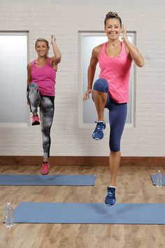 Get ready to burn major calories — all you need to do is press play! This at-home cardio workout requires no equipment and can be modified for all fitness levels.