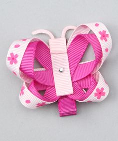 Pink Flower Butterfly Clip on #zulily today!  http://www.zulily.com/invite/jpalmer893/p/pink-flower-butterfly-clip-26952-1178182.html?tid=social_pinref_shareviaicon_na=1178182