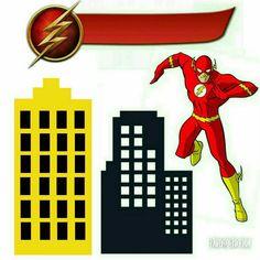 Topo de bolo do Flash Bolo Flash, Tigger, Cake Toppers, Scrapbook, Instagram, Batman Birthday Parties, Dc Heroes, Superhero Birthday Party, Mesas