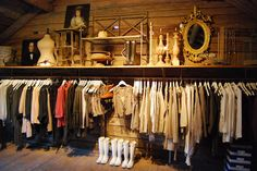 Nicely styled clothing display