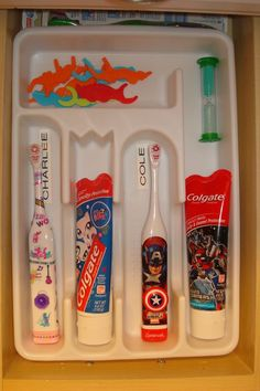 """Much better than counter or cabinet! Saves germ exchange since they will have their own """"spot"""" too!"""