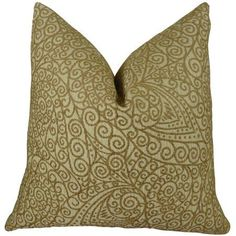 Plutus Birch Handmade Throw Pillow, Double Sided, Brown