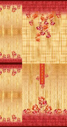 Pattern Art, Print Patterns, Pattern Design, My Design, Fabric Print Design, Textile Design, Textile Prints, Floral Prints, Wedding Card Design