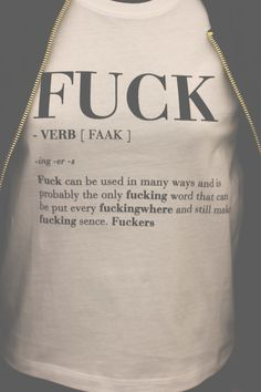 Shop Fuck Women's V-Neck T-Shirt designed by Twisted Humor T-Shirts, Hilarious Tees. Lots of different size and color combinations to choose from. Peace Tumblr, Ascendant Balance, Me Quotes, Funny Quotes, Funny Pics, Funniest Pictures, Cartoon Quotes, Shirt Quotes, Funny Images
