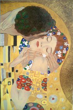 Gustav Klimt, Il bacio (particolare), 1907-08