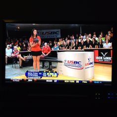 No other way to wind down a weekend than some intercollegiate women's bowling
