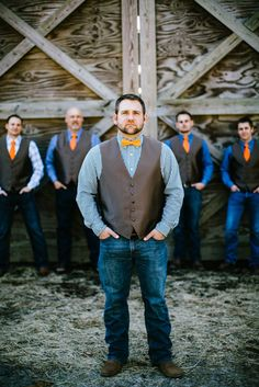 Groom and groomsmen @horsecreeknc in Eagle Springs, NC | Photo by @maegoni |